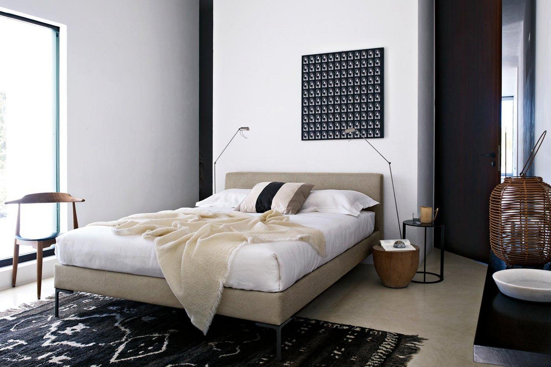 Marvelous Charles Bed For Mattress 160X200Cm Fabric Cat Super Creativecarmelina Interior Chair Design Creativecarmelinacom