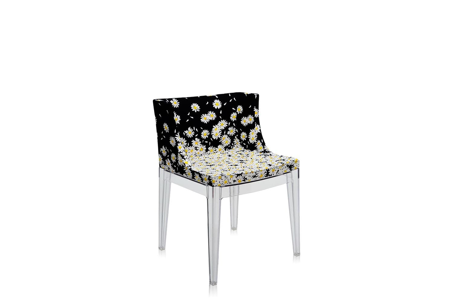 mademoiselle chair with arms by philippe starck for kartell  - transparentdaisies
