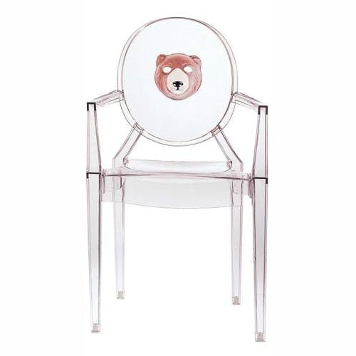 Louis Ghost Print Chair With Arms By Philippe Starck For