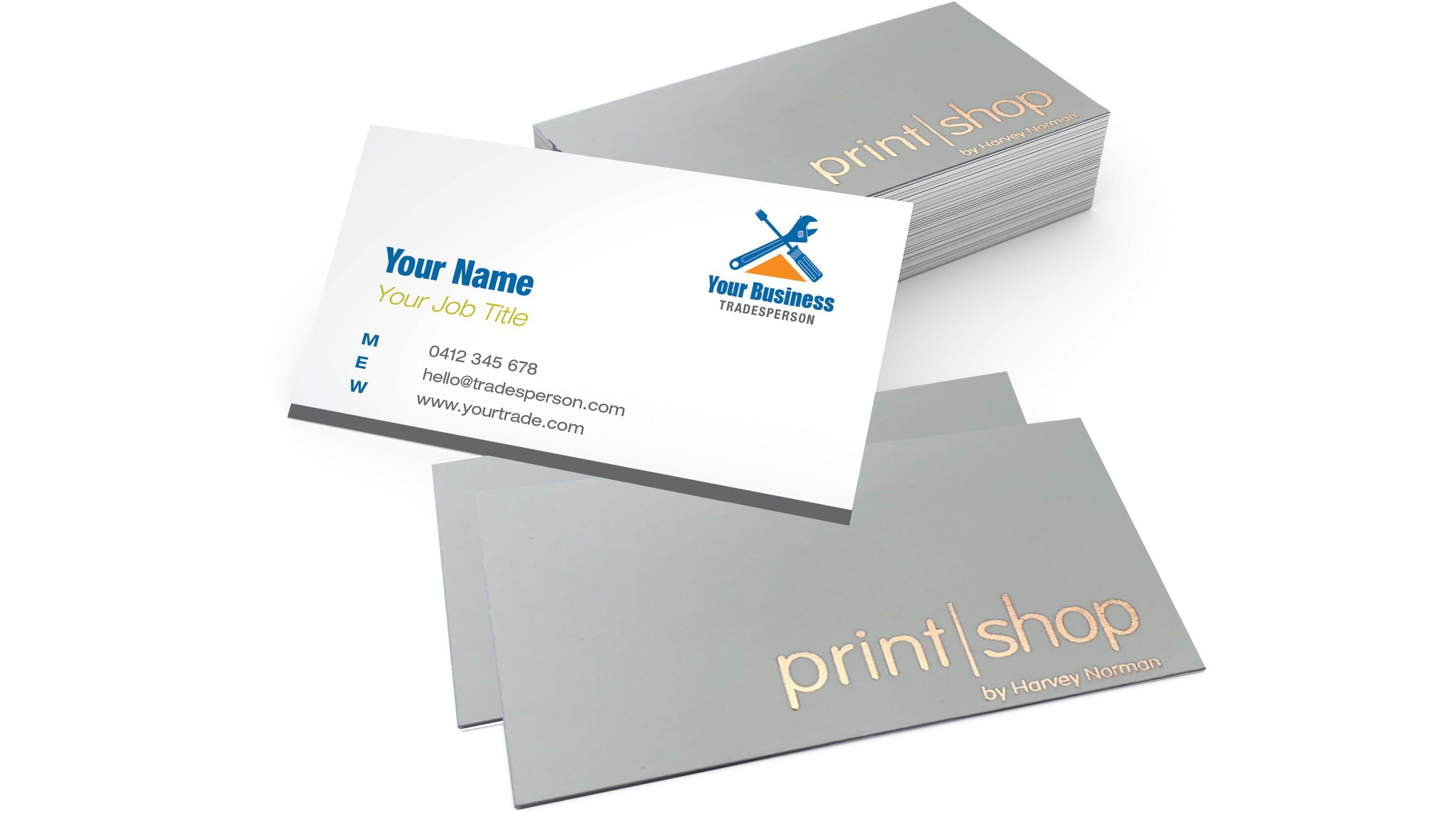 Platinum Business Cards - Velvet & Foil - 350GSM   PrintShop by ...