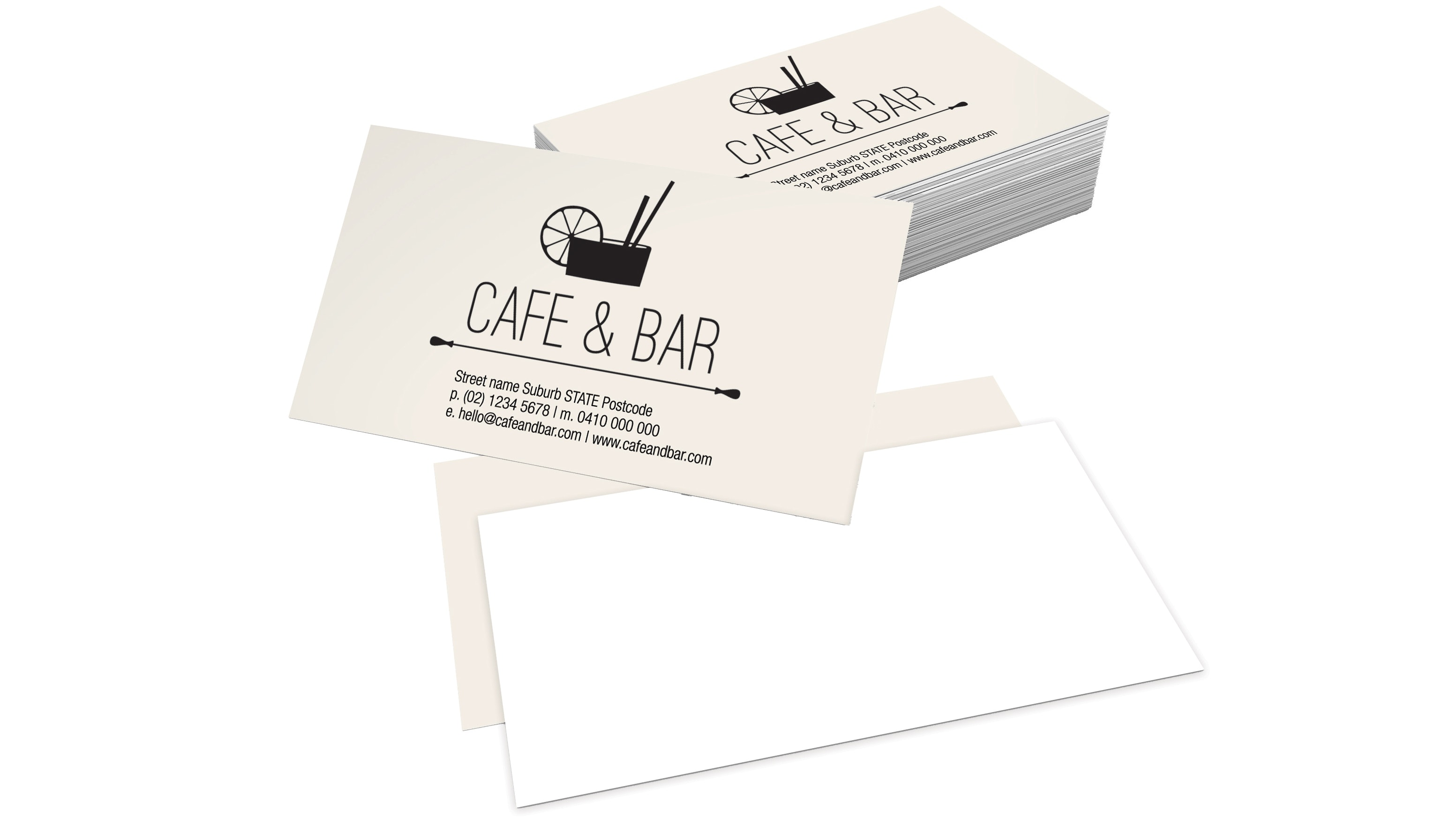 premium celloglazed business cards single sided 350gsm