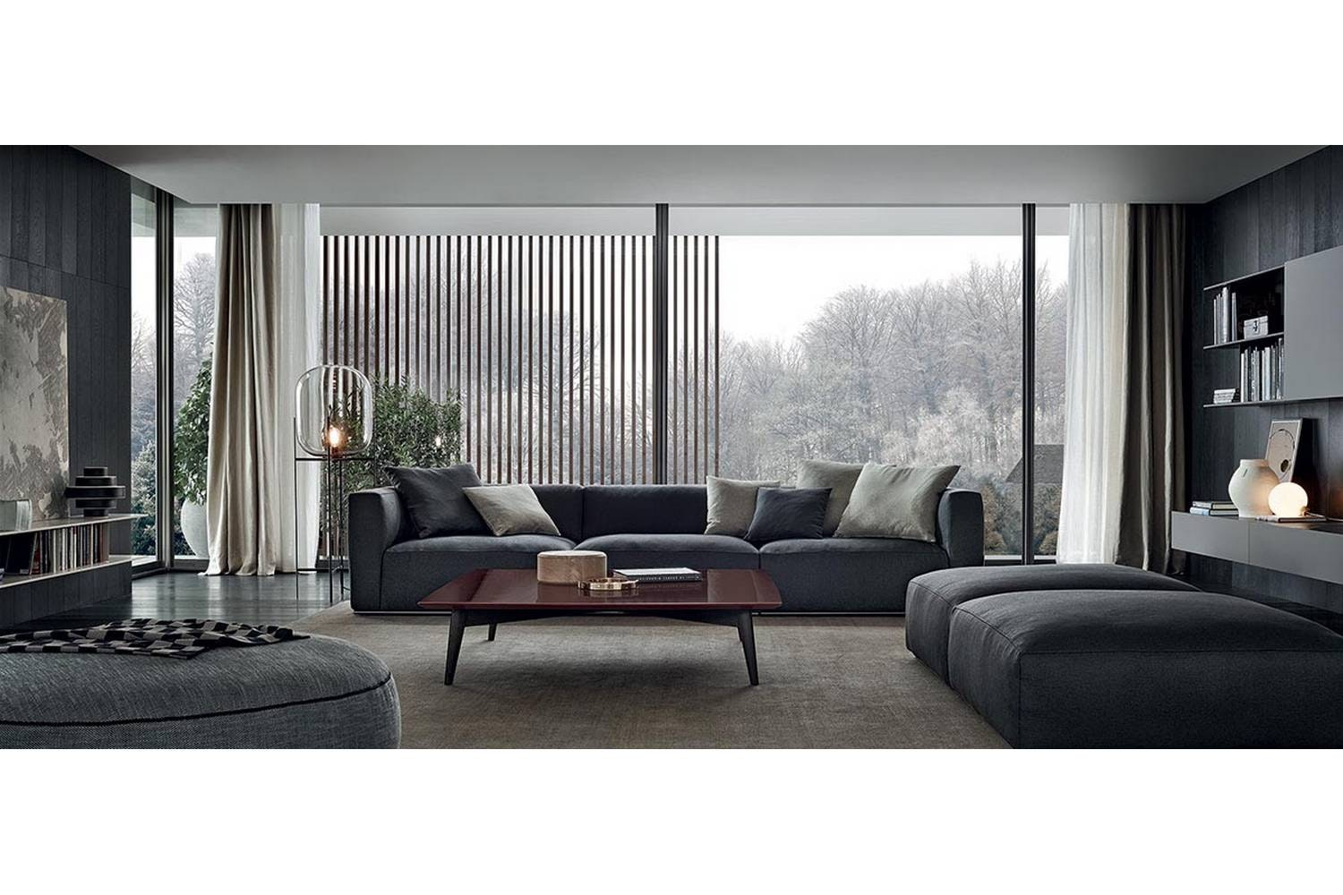 Shangai Ottoman by Carlo Colombo for Poliform