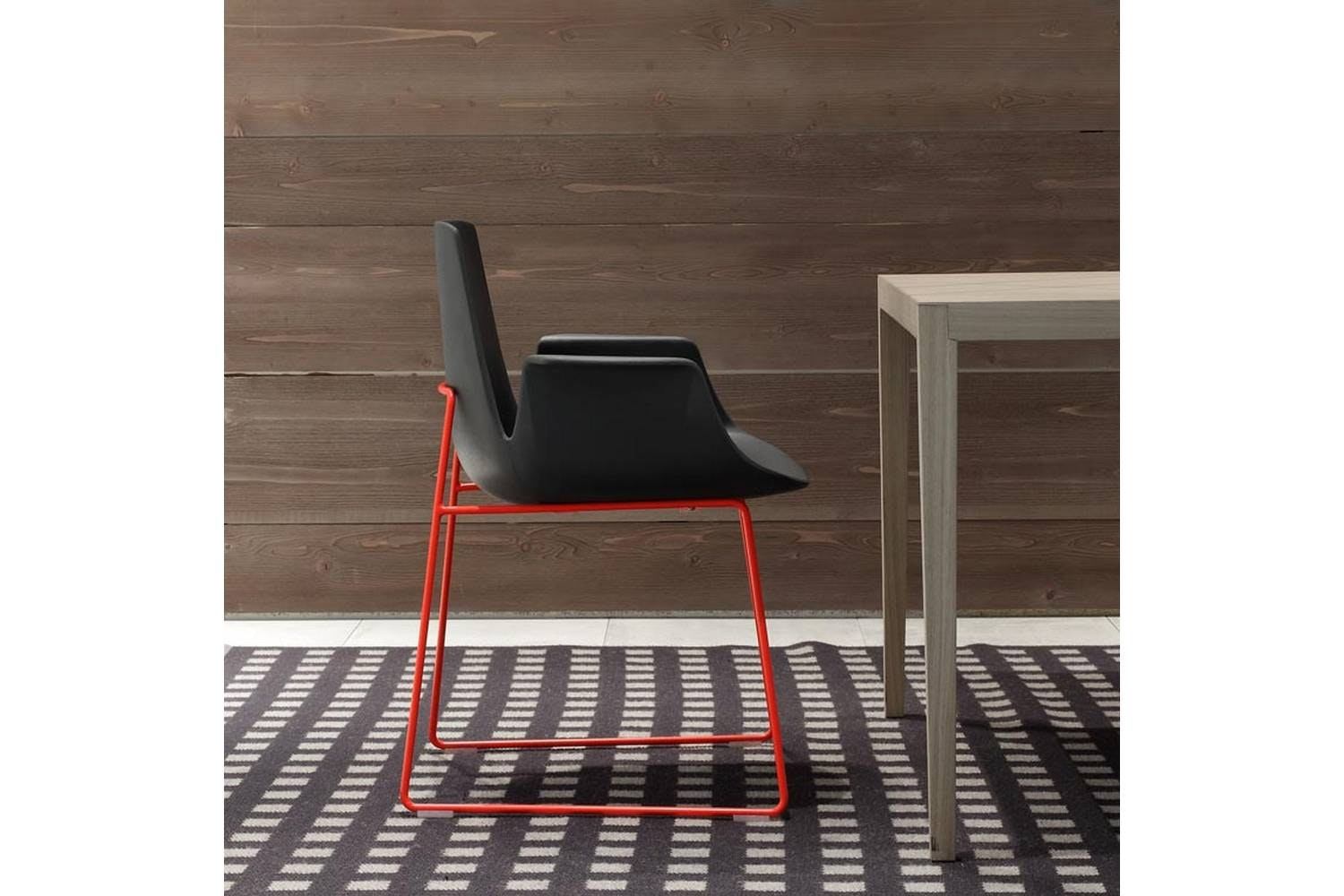 Ventura Sled Chair with Arms by J. M. Massaud for Poliform