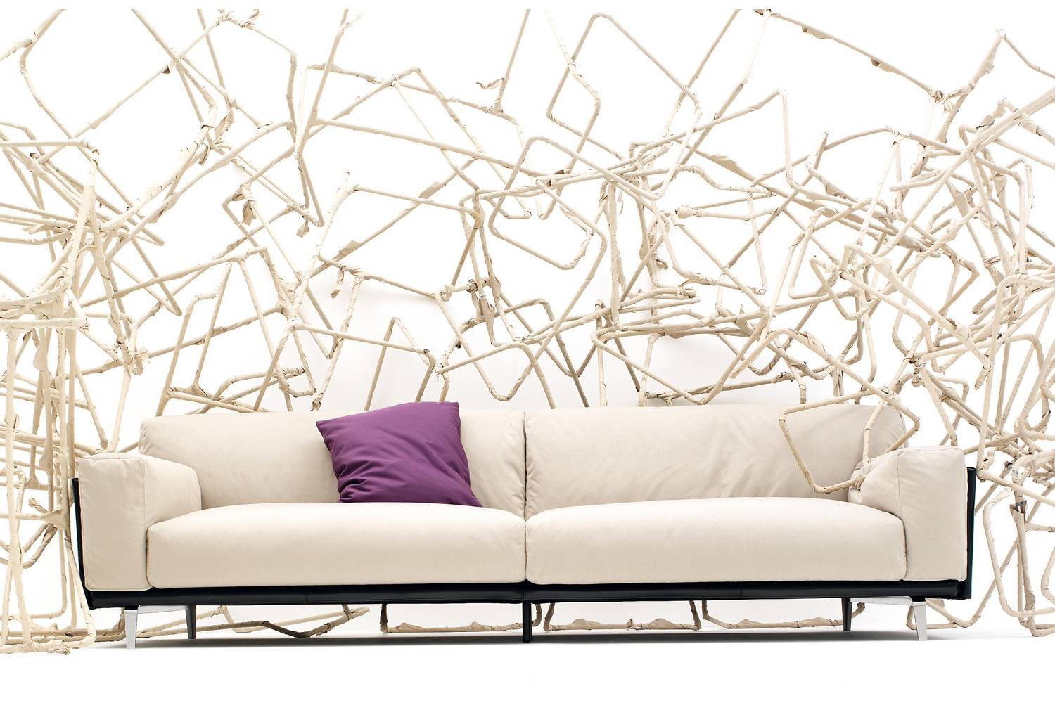 Frame Cuoio Sofa by Carlo Colombo for Arflex