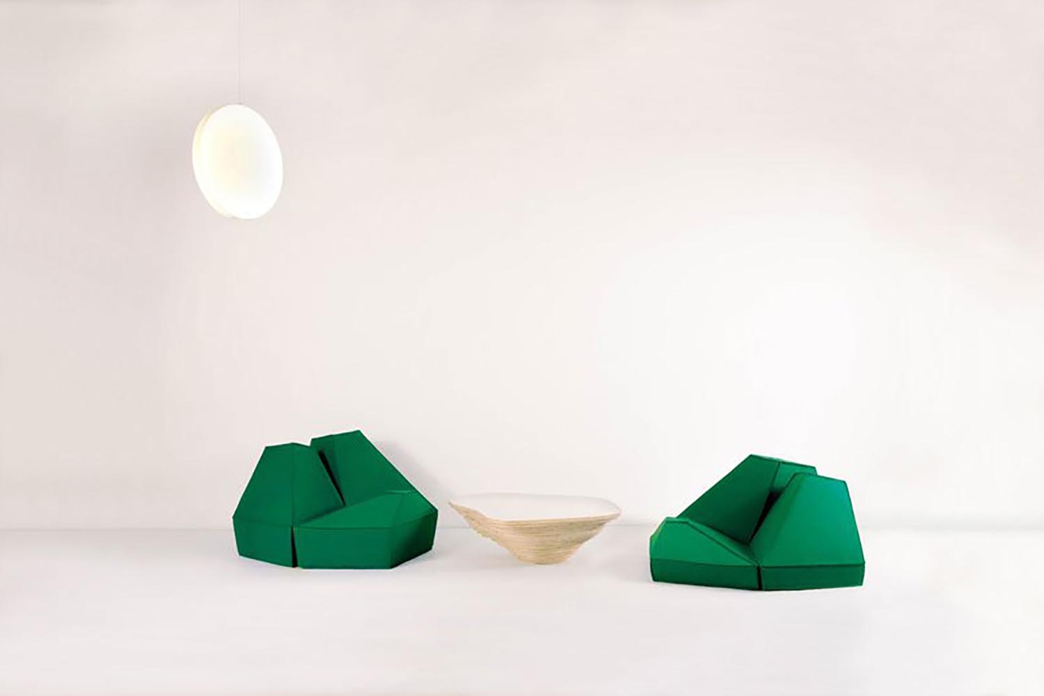 Les Angles Floor Cushion by Stephanie Marin for Smarin