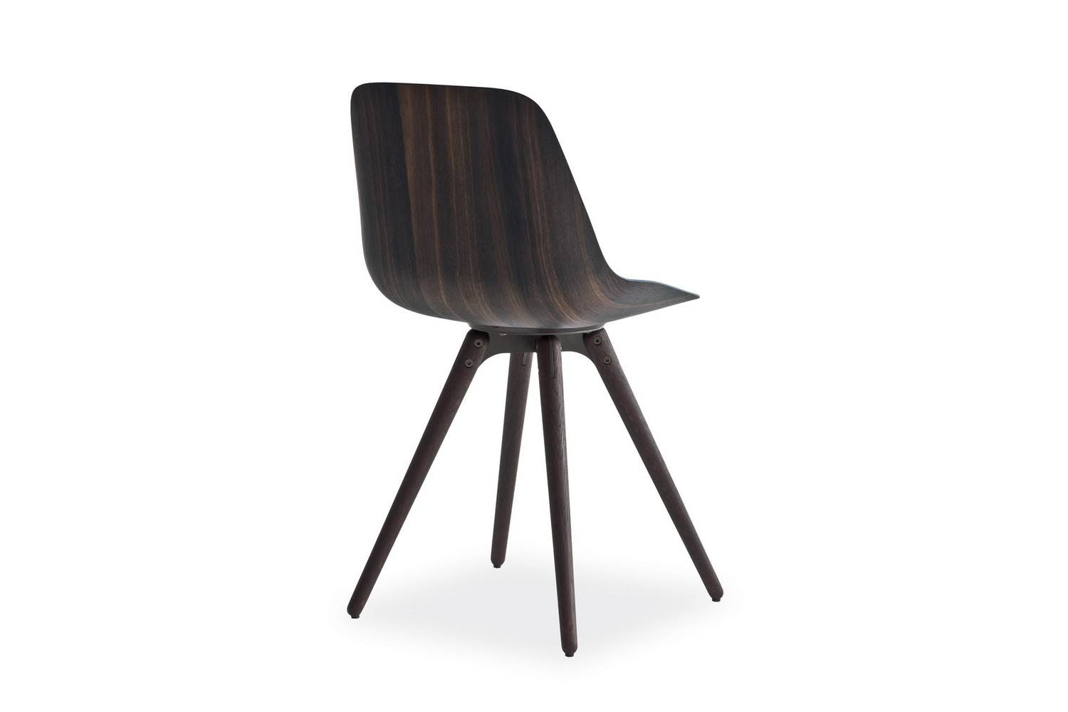 Harmony Chair with Legs in Wood by Rodrigo Torres for Poliform