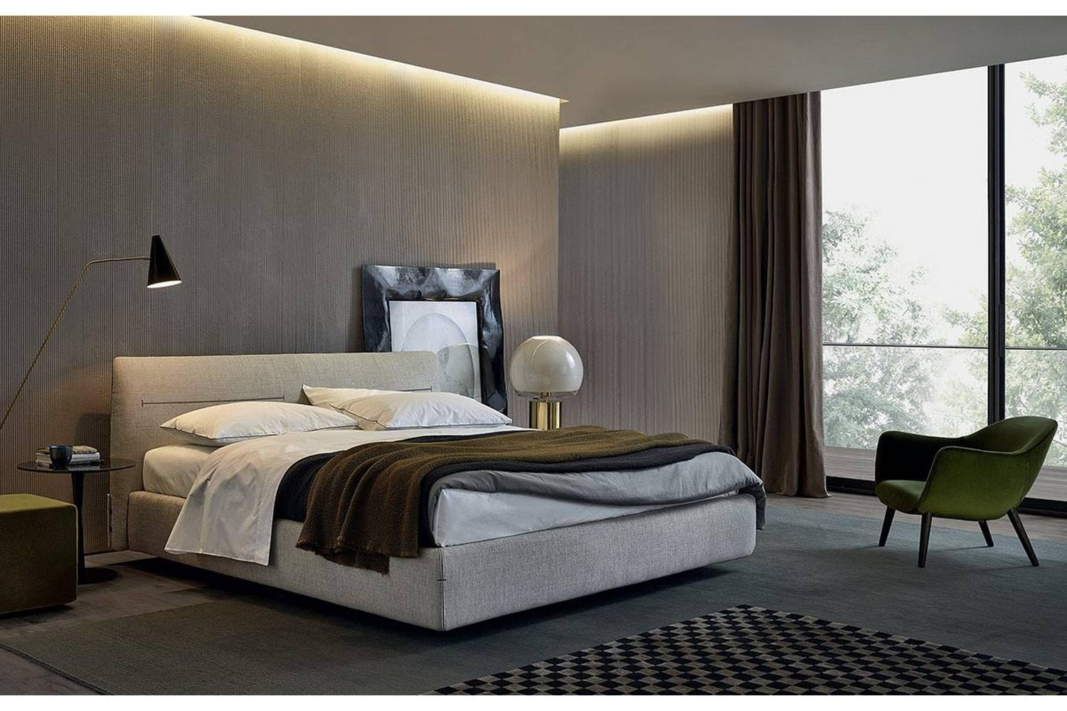 Jacqueline Bed by Jean-Marie Massaud for Poliform