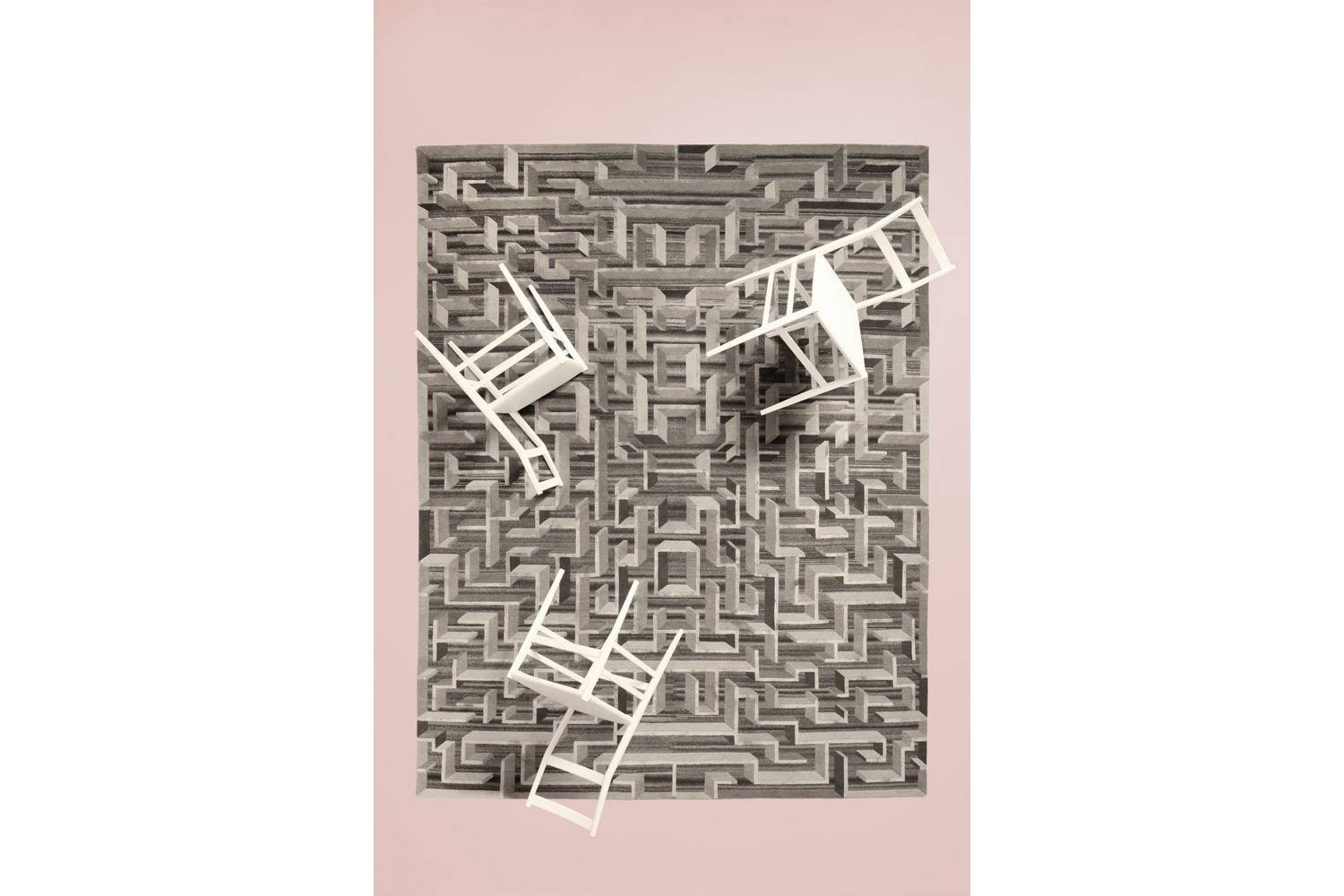 Lost In The Fifties Soie Rug by Contemporary Collection for CC-Tapis