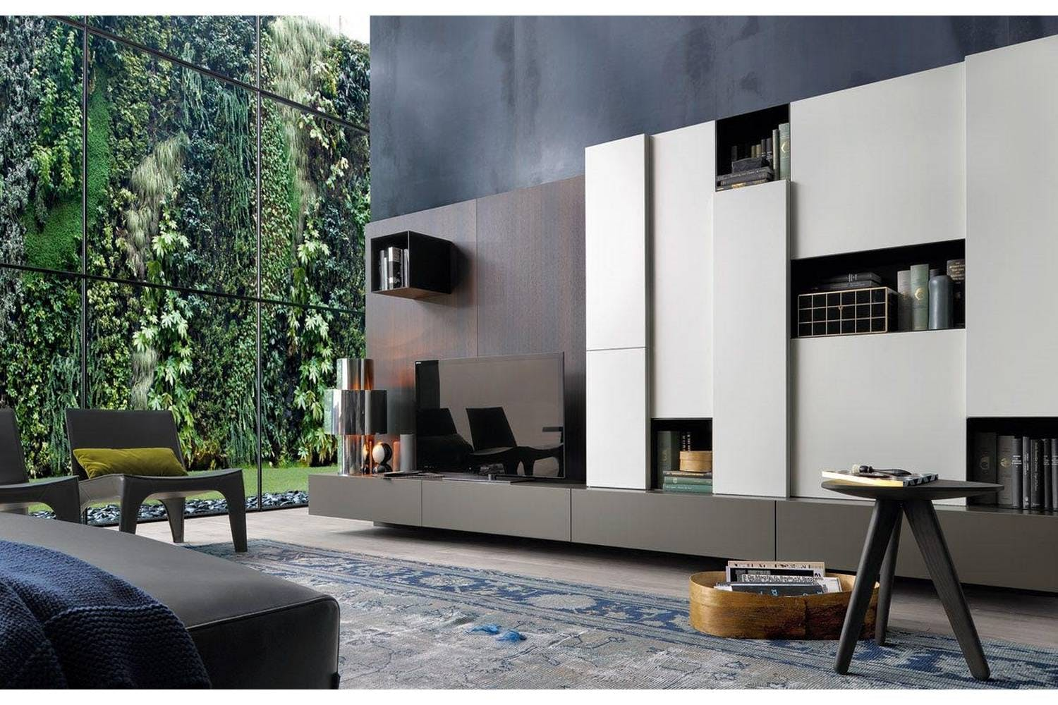 sintesi bookcase by carlo colombo for poliform poliform australia. Black Bedroom Furniture Sets. Home Design Ideas