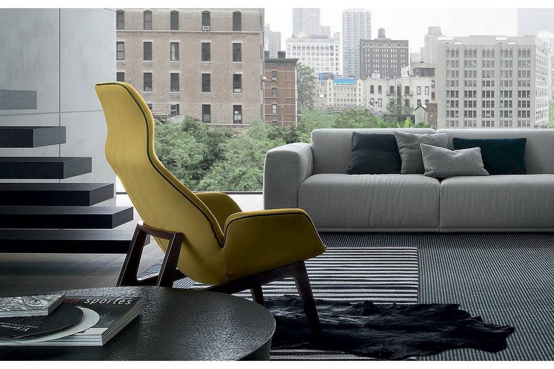 Ventura Lounge Armchair by J. M. Massaud for Poliform