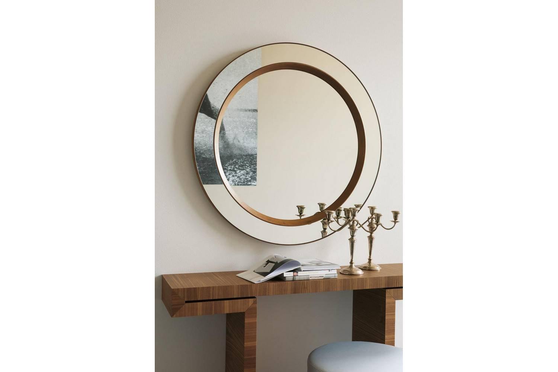Miss Tondo Mirror by T. Colzani for Porada