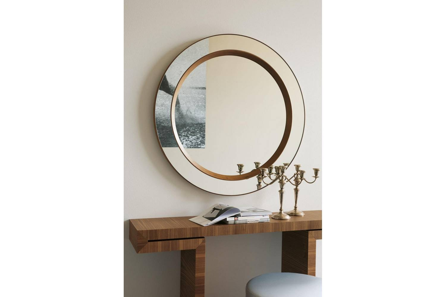 Miss Tondo Mirror by T. Colzani for Porada