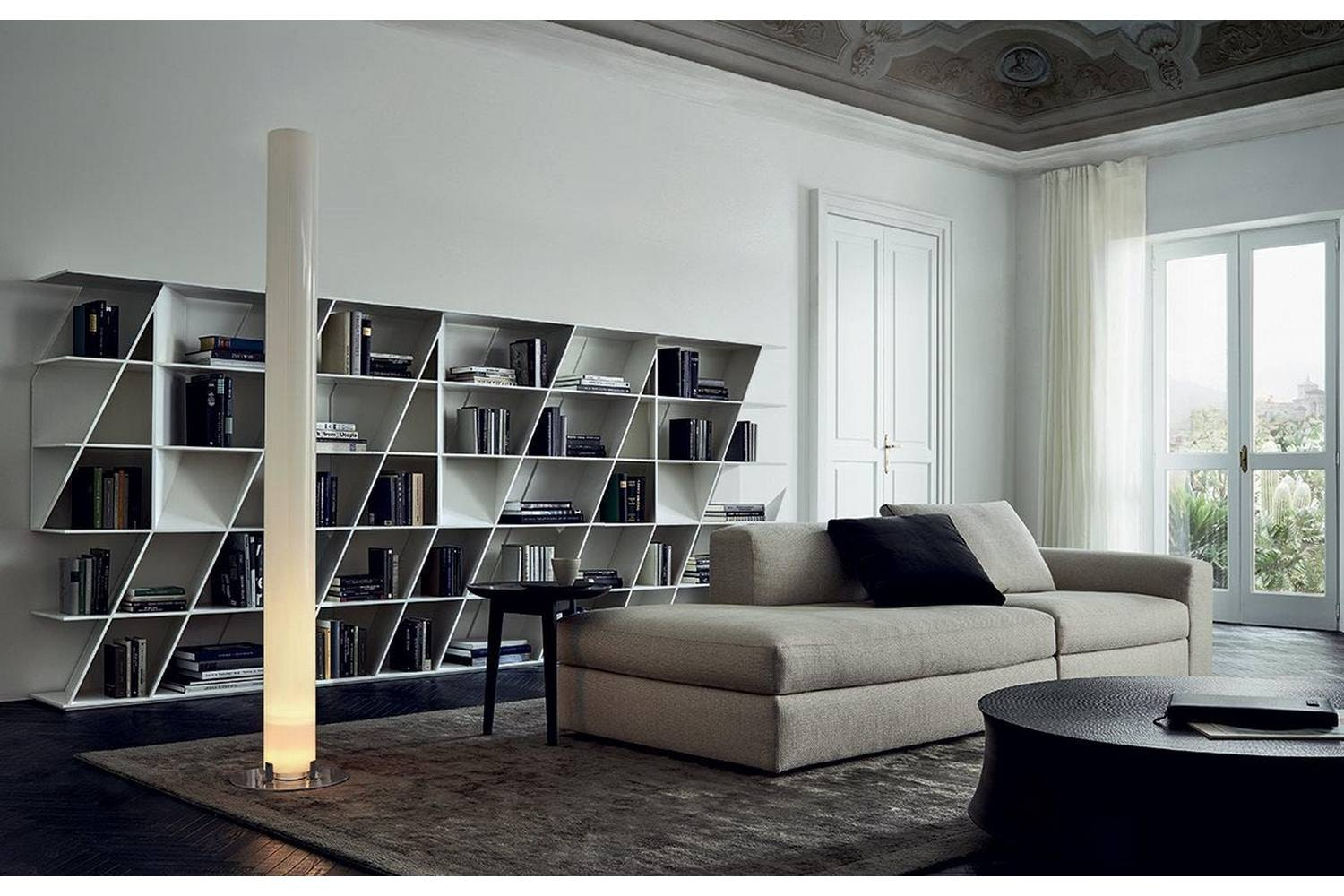 Bedside Bookshelf Web Bookshelf By Daniel Libeskind For Poliform Poliform