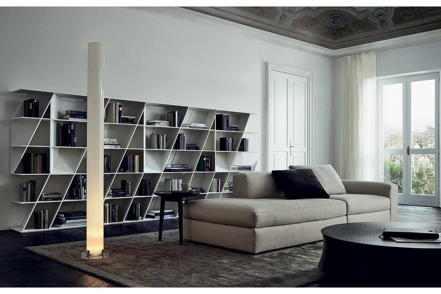 Web bookshelf by daniel libeskind for poliform poliform for Desing interieur
