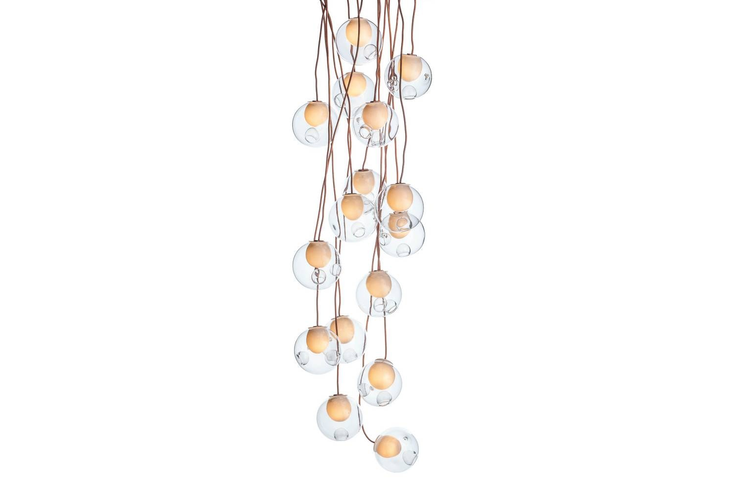 28.16 Copper Suspension Lamp by Omer Arbel for Bocci