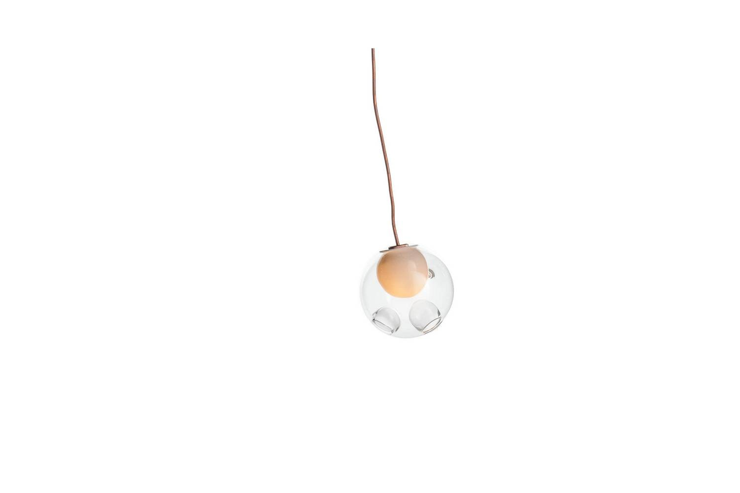 28.1 Copper Suspension Lamp by Omer Arbel for Bocci