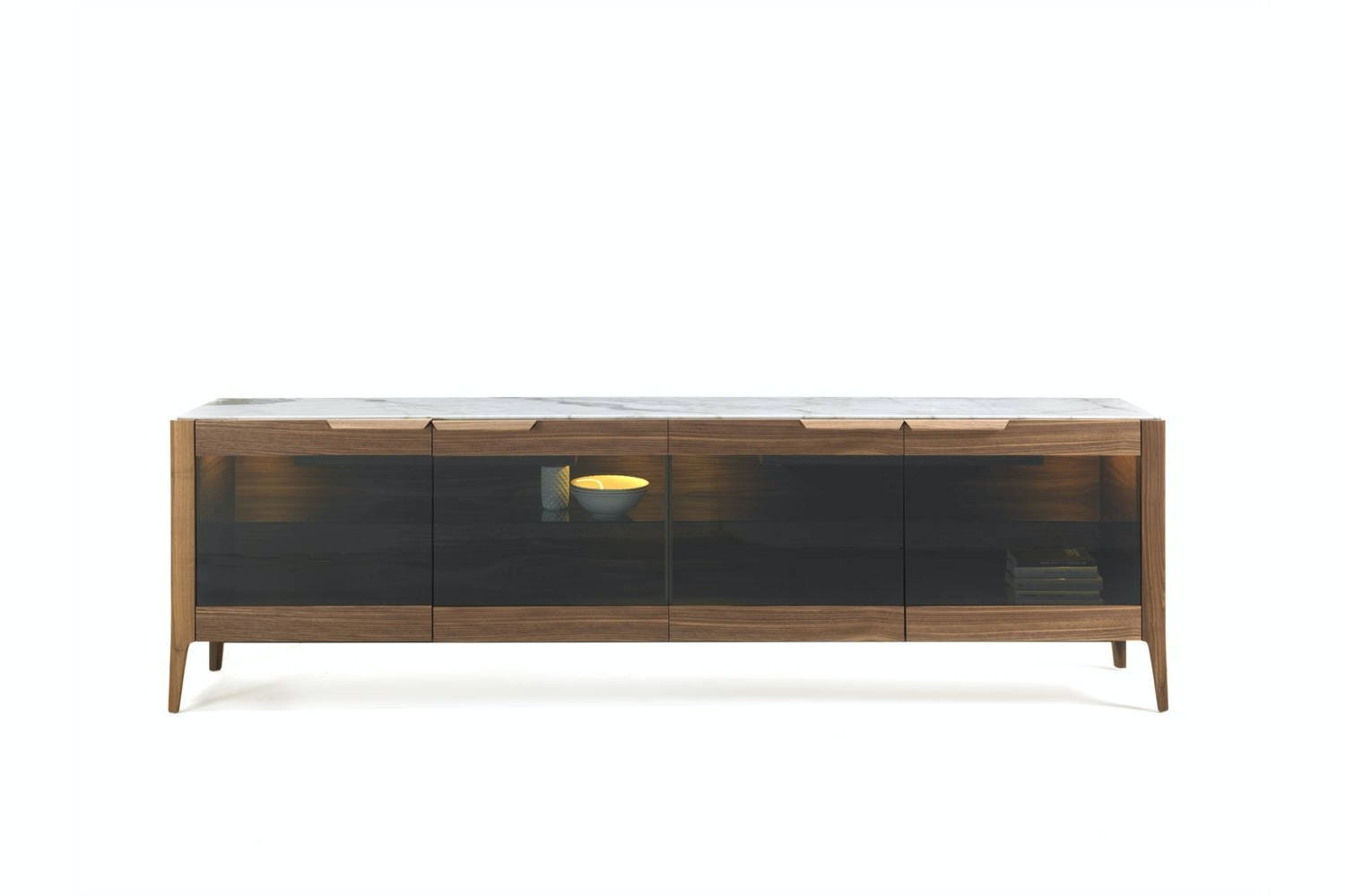Atlante 4 Glass Sideboard by C. Ballabio for Porada