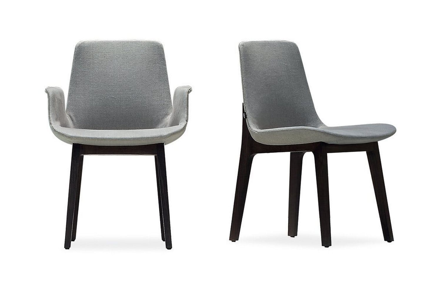 Ventura chair with arms by j m massaud for poliform