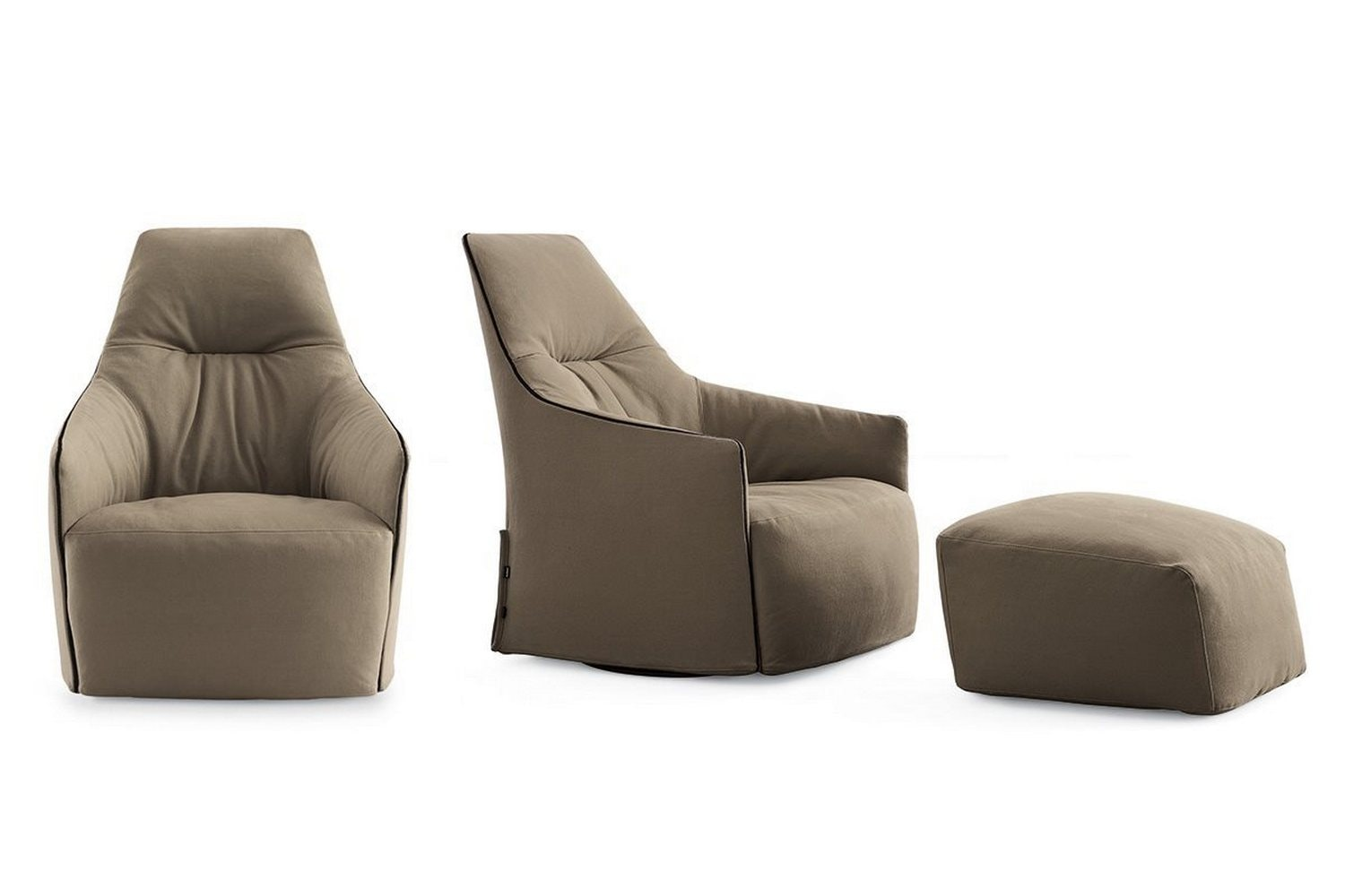 Santa Monica Lounge Ottoman by J.M. Massaud for Poliform
