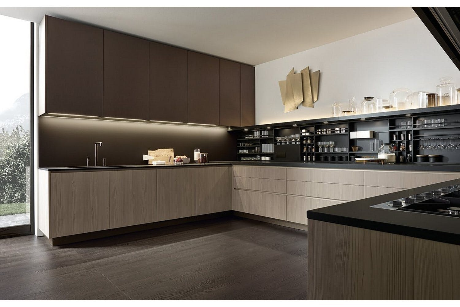 Alea kitchen by paolo piva r d varenna for poliform for Varenna cuisine