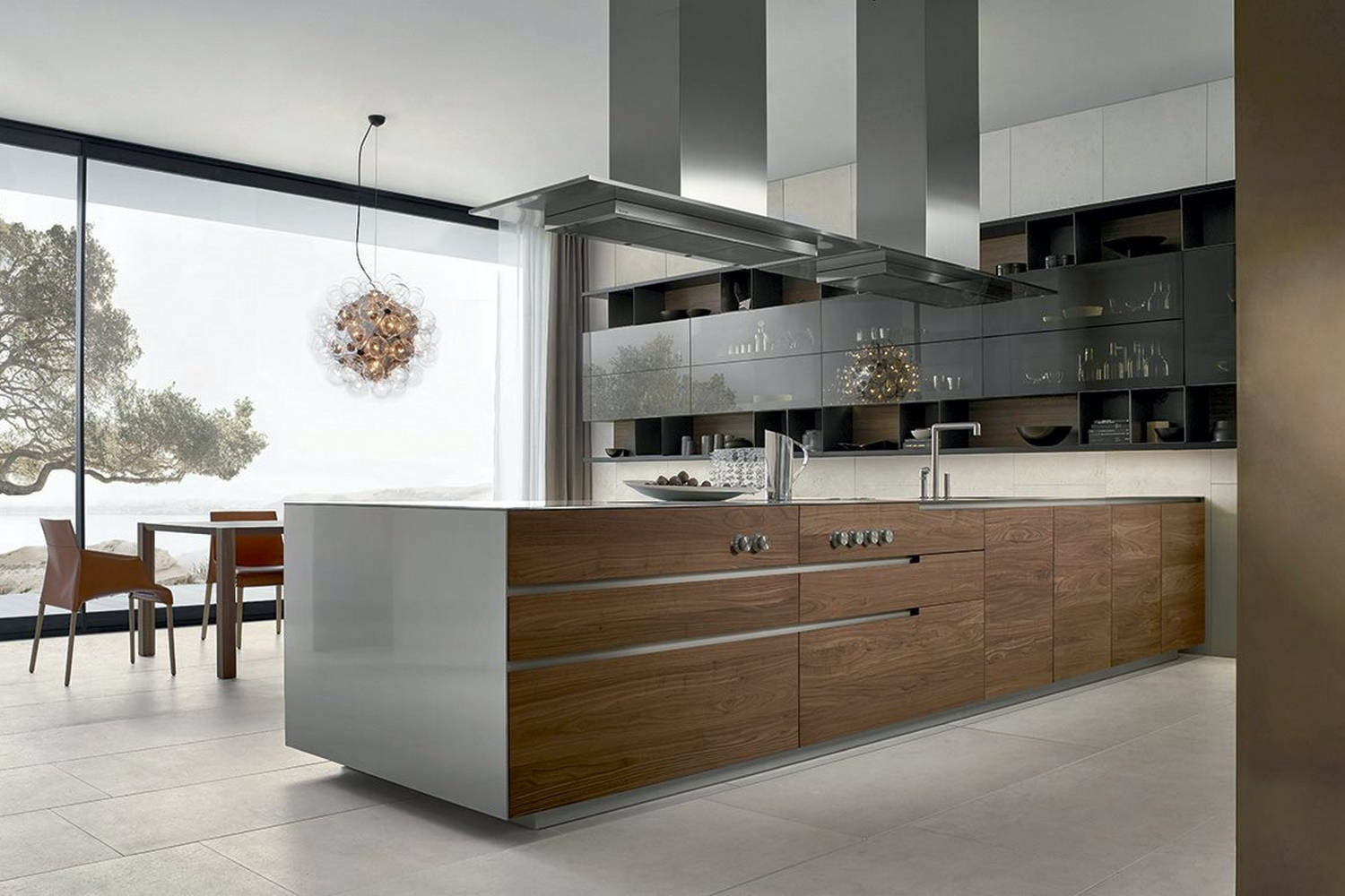 Phoenix Kitchen by CR&S Varenna for Poliform