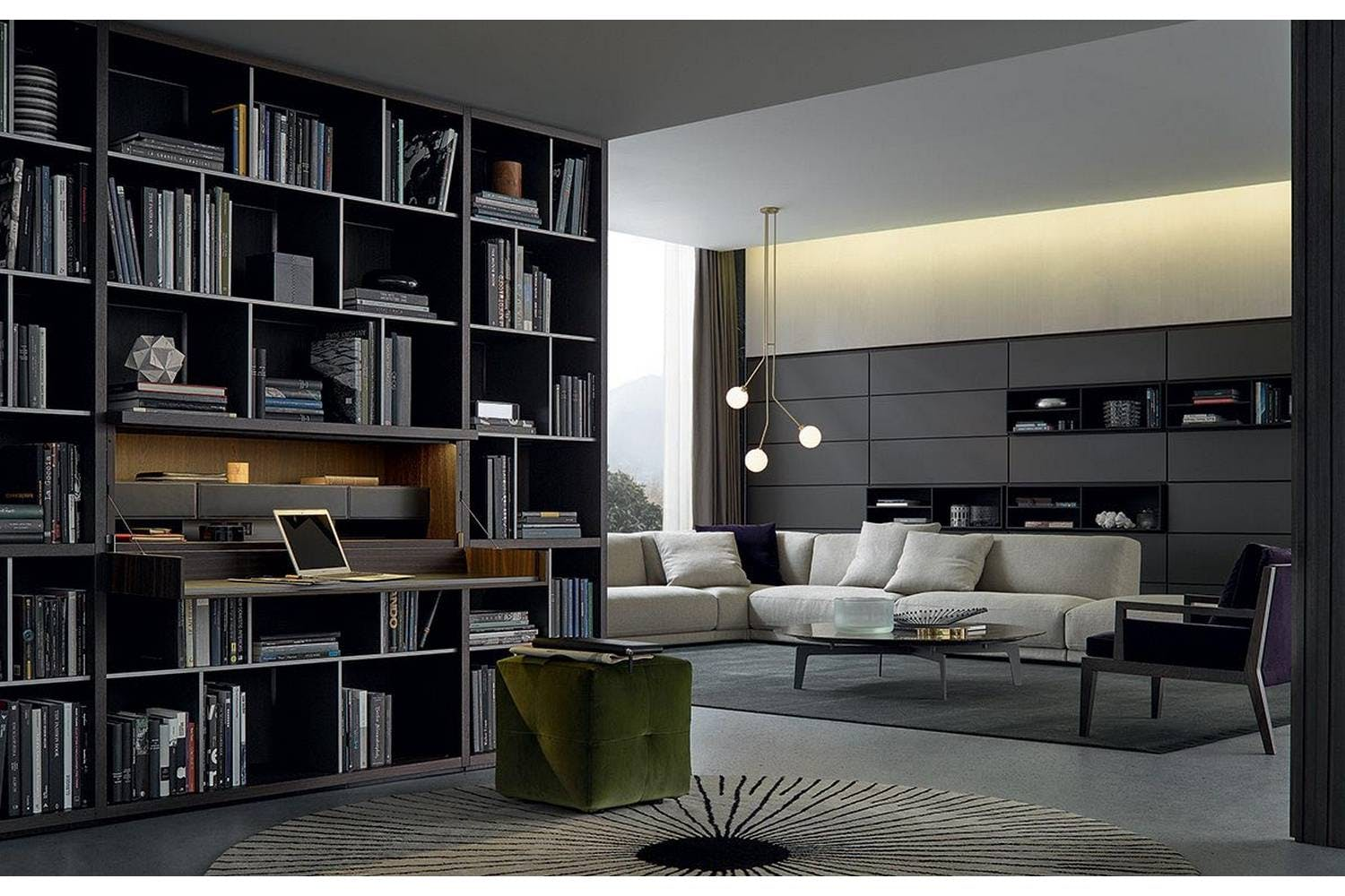 Wall System Bookcase by CR&S Poliform for Poliform | Poliform Australia