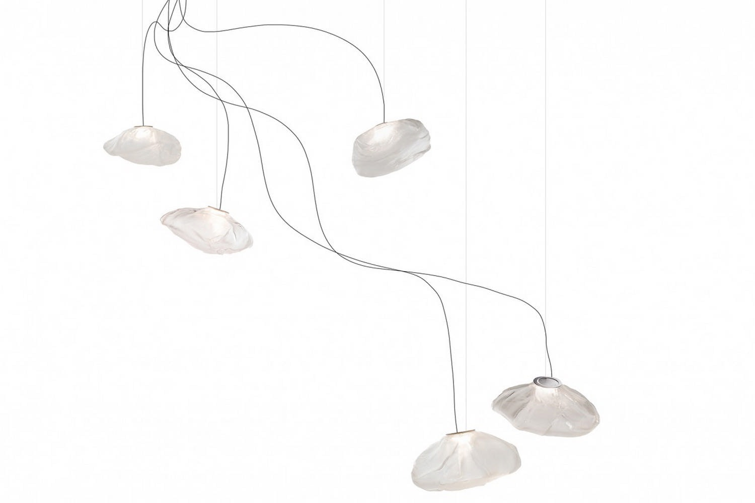 73.5 Semi-Rigid Suspension Lamp by Omer Arbel for Bocci