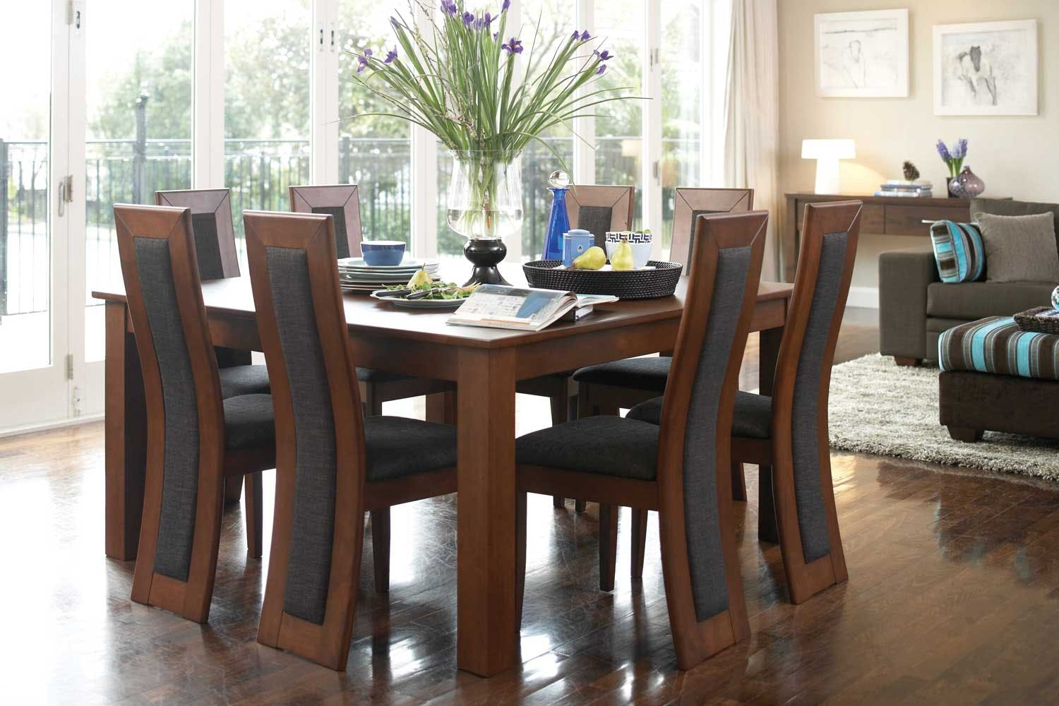 Monte cristo 9 piece dining suite by john young furniture for Dining room tables harvey norman
