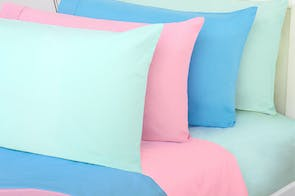 100% Cotton Plain Dyed Single Sheet Set by Squiggles