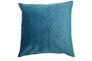 Brooklyn Velvet Teal European Pillowcase by Central Thread