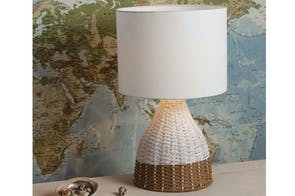 Ida Rattan Table Lamp by Mayfield