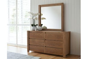Milford 6 Drawer Dresser and Mirror by Sorensen Furniture