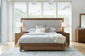 Milford Padded King Bed Frame by Sorensen Furniture