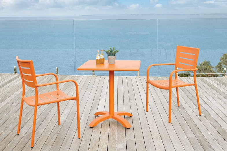 Robert 3 Piece Outdoor Setting - Orange