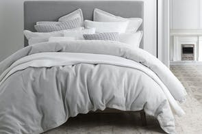 Taite Silver Duvet Cover Set by Private Collection