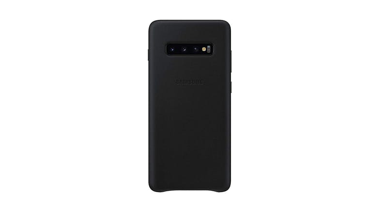 Samsung Galaxy S10+ Leather Case - Black