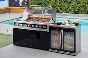 Galaxy Black 2 Door Outdoor Bar Fridge by Gasmate