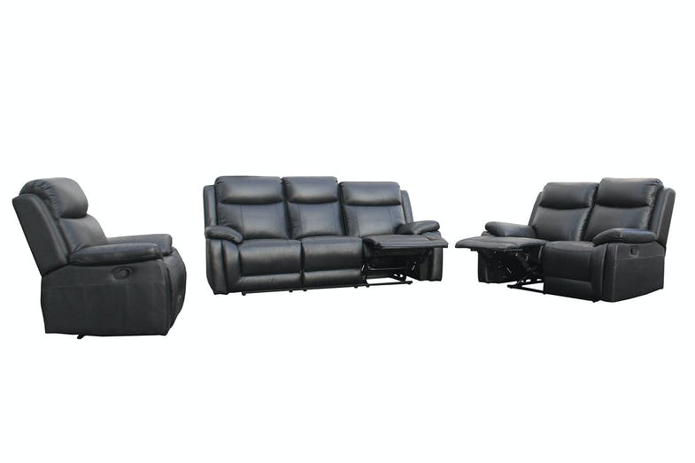 Marco 3 Piece Leather Recliner Lounge Suite