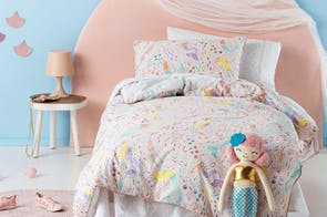 Mermaidia Duvet Cover Set by Squiggles