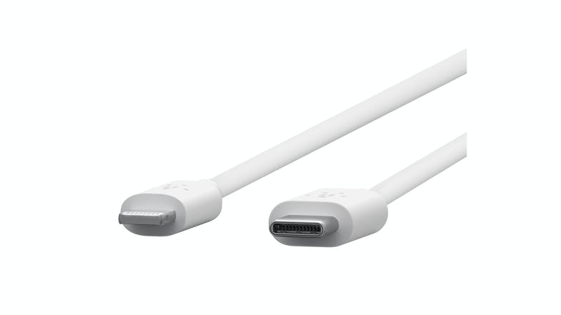 Belkin BOOST CHARGE Lightning to USB-C Cable 1.2M - White