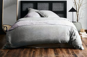 Herringbone Dove Duvet Cover by Aura