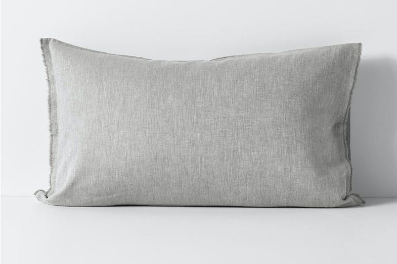 Herringbone Dove Standard Pillowcase by Aura