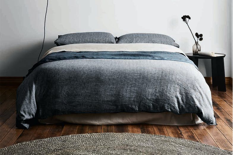 Herringbone Ink Duvet Cover by Aura