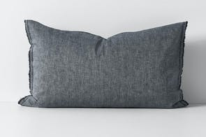 Herringbone Ink Standard Pillowcase by Aura