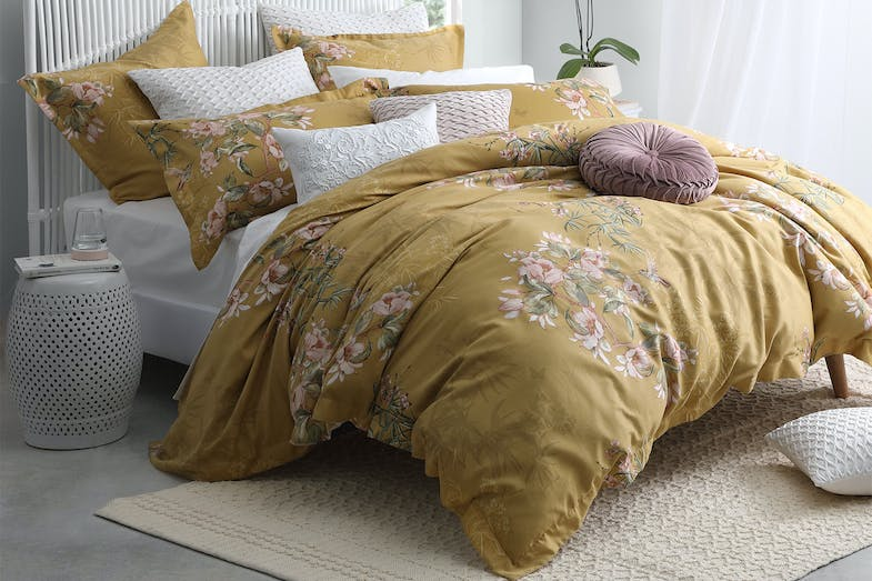 Kintori Gold Duvet Cover Set by Private Collection