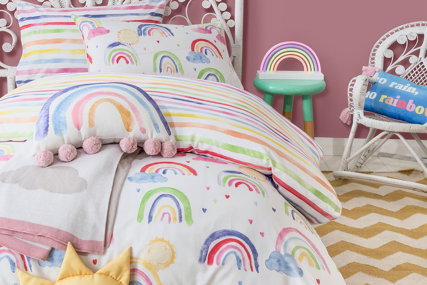 Over The Rainbow Duvet Cover Set By Private Collection Harvey Norman New Zealand