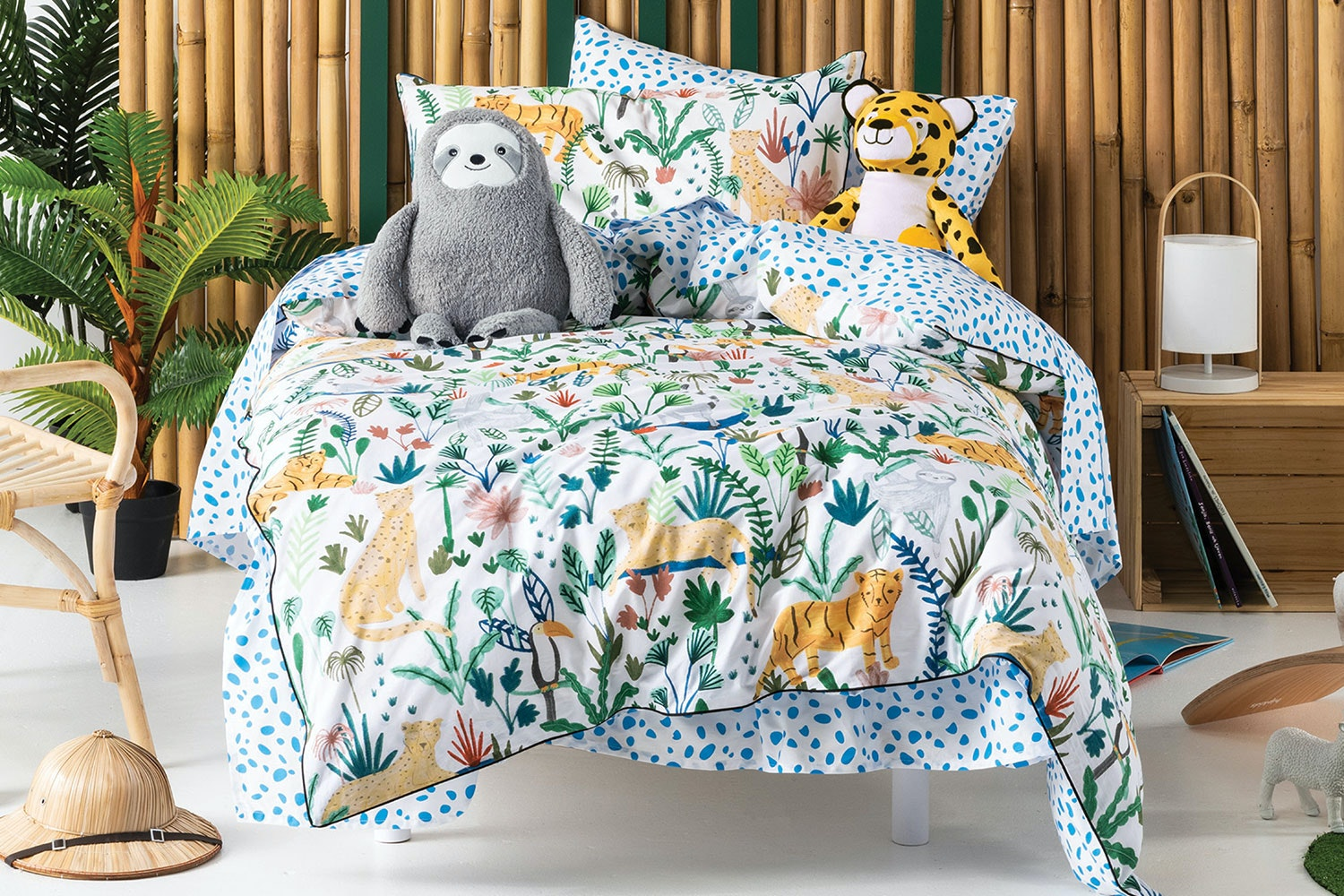 The Wild Jungle Duvet Cover Set By Squiggles Harvey Norman New Zealand