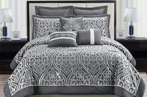 Catalina 8 Piece Comforter Set by Marlborough Textiles
