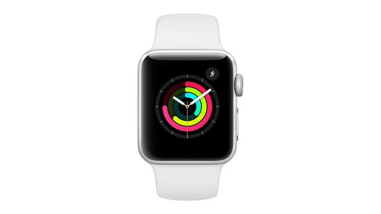 Apple Watch Series 3 (GPS) - 42mm Silver Aluminium Case + White Sport Band