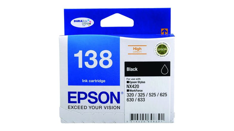 Epson 138 Ink Cartridge - Black